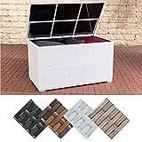CLP Polyrattan-Aufbewahrungsbox Safe I Gartentruhe für Kissen und Auflagen I in Verschiedenen Farben erhältlich Weiß