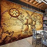 Cucsaist Papier Peint Mural 3D Carte du Monde Rétro Chambre Salon Salle D'Étude TV...