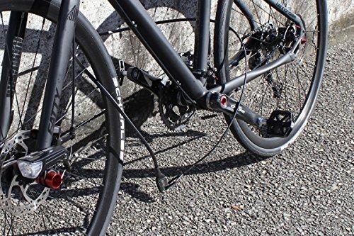 CROPS Q10 Leichtes Fahrradschloss Kabelschloss Helmschloss - 150 cm - Schwarz - 2