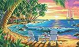 Maße paintworks Malen nach Zahlen Sunset Beach Paint Kit