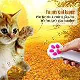 Pets Empire Paw Style Dog Cat Catch The Interactive LED Light Pointer Red Pot Exercise Chaser Toy Pet Scratching Training Tool 1 Piece Color May Vary