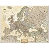National Geographic Map Executive Europe Political, enlarged (1 : 5.419.000), Planokarte