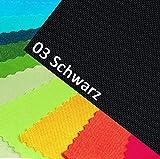 NOVELY OXFORD 600D Farbe 03| SCHWARZ Polyester Stoff 1 lfm