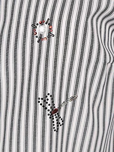 Damen Bluse in Streifendessin by Paola Weiß/Schwarz