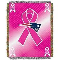 NFL New England Patriots Mama Cáncer Conciencia tapiz