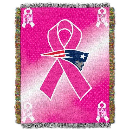 Heckklappe Decke (Northwest New England Patriots Brustkrebs Bewusstsein Tapisserie Überwurf Decke 46x 60)