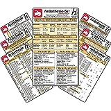 Anästhesie Karten-Set -professional- ( 7er-Set ) - Medizinische Taschen-Karte