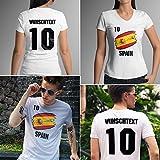 Spain | Spanien | Männer oder Frauen Trikot T - Shirt mit Wunsch Nummer + Wunsch Name | WM 2018 T-Shirt