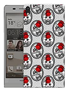 "Humor Gang Roses And Cats Printed Designer Mobile Back Cover For ""Huawei Acsend P6"" (3D, Matte Finish, Premium Quality, Protective Snap On Slim Hard Phone Case, Multi Color)"