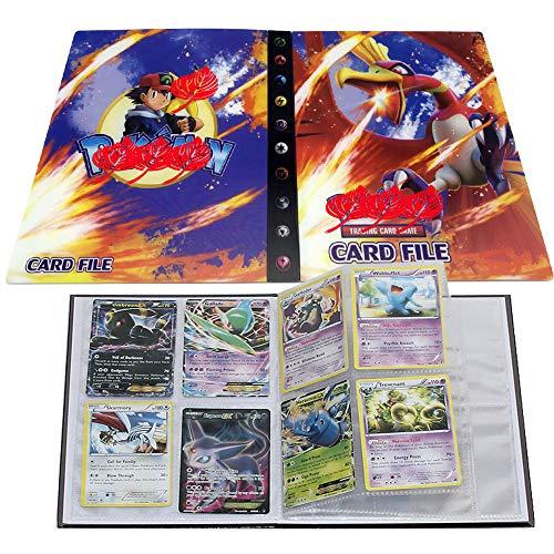 UHIPPO Pokemon Karten Album, Pokemon Karten Halter, Pokemon Ordner für Karten Album Buch Bester Schutz für Pokemon Sammel Karten GX EX Box(Ho-Oh)