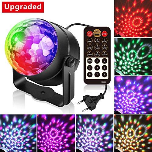 (3.Generation) Disco Lichteffekte, Christmas Party Licht Beleuchtung Discolicht Partylicht Led Disco Ball Light Partybeleuchtung Discokugel für...
