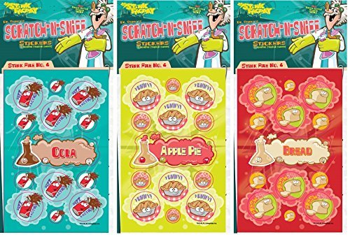 N Sniff Stickers 3-Pack- Apple Pie, Bread, Cola 81 Stickers (Series4) ()