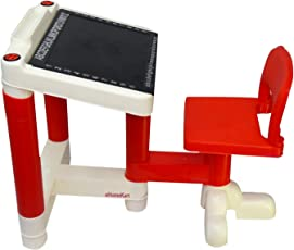 Ehomekart Baby Desk Table Chair for Kids, Red