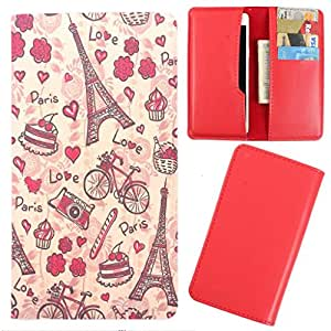DooDa - For Spice Pinnacle Stylus ( Mi-550) PU Leather Designer Fashionable Fancy Case Cover Pouch With Card & Cash Slots & Smooth Inner Velvet