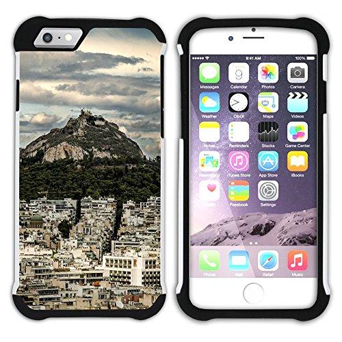 Graphic4You Athen Griechenland Postkarte Aussicht Hart + Weiche Kratzfeste Hülle Case Schale Tasche Schutzhülle für Apple iPhone 6 Plus / 6S Plus Design #10