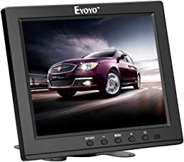 Eyoyo 8 inch HDMI Monitor 1024x768 Resolution Display Portable 4:3 TFT LCD Mini HD Color Video Screen Support HDMI VGA BNC AV Ypbpr Input for PC CCTV Home Security (8 inch 1024x768)