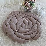 EFRC A forma di fiore meditazione di TATAMI materasso futon ispessito anti stuoia di slittamento porta carina,1