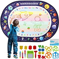 Extra Large Aqua Magic Doodle Mat, Colorful Educational Water Drawing Doodling Mat Coloring Mat for Kids Toddlers Boys Girls Age of 2 3 4 5 6 7 8