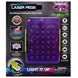 Laser Pegs 3D Liteboard Light It Up Storage Bin Display Board Sound Activated 5+