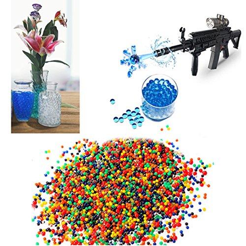 JINFYUAN Wasser Perlen (20000Perlen) für Kinder Sensorische Erfahrung, Spielzeug Guns mit Bullet Perlen [Rainbow Mix], Party Dekoration und Bewässerung Pflanze, Durchmesser (7mm-8mm)