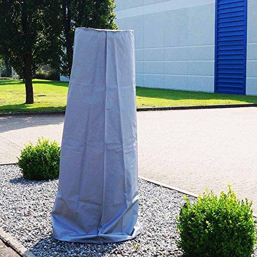 Traedgard Heizstrahler Kompakt Midi Schwarz, Höhe ca. 142 cm, Schwarz pulverbeschichtet mit Rollenset und Schutzhülle, ca. 12 KW Heizleistung - 7
