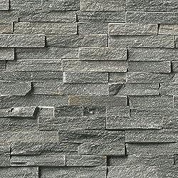 4 Pack of Dumapan SMP Masonry Grey Brick Effect Wall Panel - 3D Effect PVC Bathroom / Kitchen Wall Panels