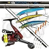 LINEAEFFE SL30 1BB MOULINET & Vigor 1.8m M / 6ft SPIN FLOTTEUR Canne à pêche + 3 x LEURRE & 5 X CRISTAL WAGGLER bouchon