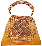 Bombay Haat Clutch Purse/Party wear Clutch/Bridal Clutch/Bridal Purse for women and Girls for Patry/Wedding/Wedding Gift (Golden)