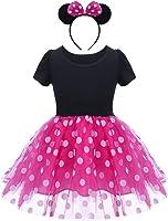 OBEEII Ragazze Vestito Bambina Polka Dots Tutu Principessa Abiti Estivo Senza Maniche Costume per Festa Cerimonia Carnevale Compleanno Comunione Ballerina Prom 1-6 anni