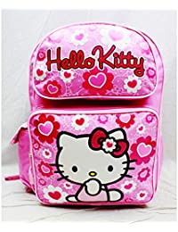 190e85525e Backpack - Hello Kitty - Pink Flower Bow Large Girls School Bag New 84017