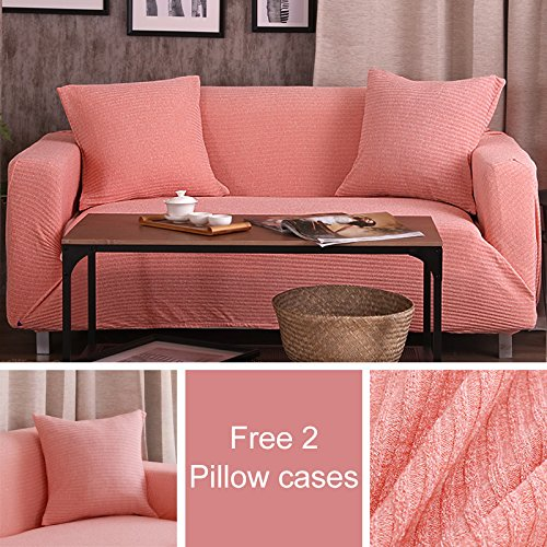 SSDLRSF Sofa Cover All-Inclusive rutschfeste Günstige Sofa Handtuch Elastische Ecksofa Sectional Covers Spandex Sofa Schonbezug 1 Stück (145-185 Cm), Farbe 15, Einzelsitz