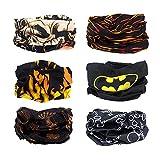 Enlody 6pcs Outdoor Magic Haarband Elastic Nahtlos Bandana Schal UV-Reibung Sport mit Kopfbedeckungen