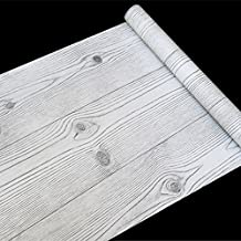 LoveFaye Simple grano de madera papel de contacto adhesivo estante maletero puerta estantería adhesivo 17,7cm, de 9.8pies
