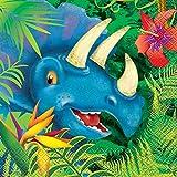 Unique Party 58312 - Serviettes en Papier - 16,5 cm - Fête à thème des Dinosaures...