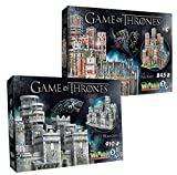 Wrebbit 3D Game of Thrones Collection Red Keep & Winterfell Combo Pack 3D Jigsaw Puzzle (1755 Pieces)