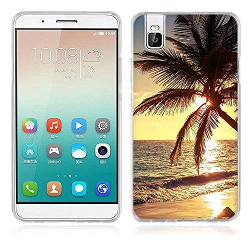 Huawei Honor 7i Hülle, Fubaoda Schöne & romantische Landschaft Serie TPU Case Schutzhülle Silikon Case für Huawei Honor 7i (Shot X)