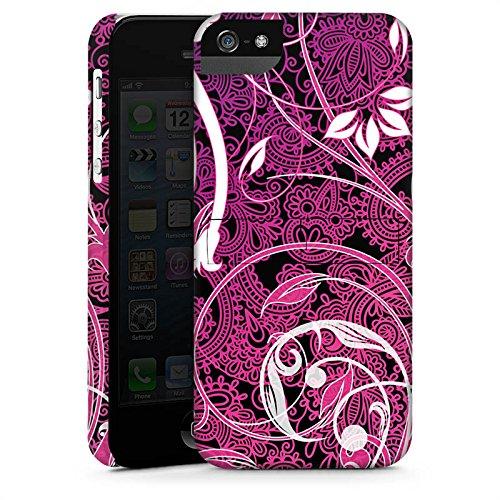 Apple iPhone X Silikon Hülle Case Schutzhülle Floral Ornament Blumen Premium Case StandUp