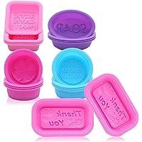 Lot de 18 moules en silicone pour fabrication de savons, cupcakes, forme rectangulaire, ronde et ovale