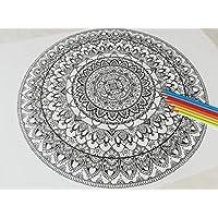 Póster mandala para colorear y pintar en casa. Medida tipo PÓSTER de 50X70 CMS!