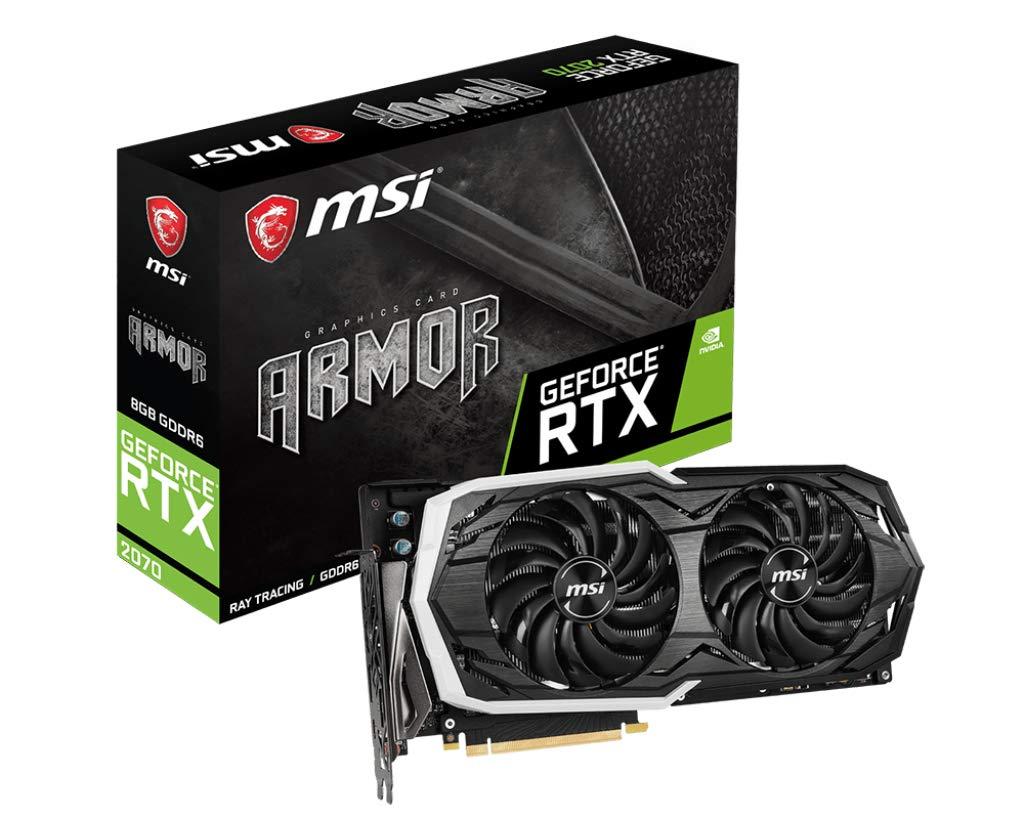 MSI VGA2-N2070-ARMO-8G Carte Graphique GeForce RTX 2070 Armor 8G OC hdmi 1,41 Ghz