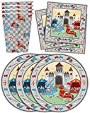Medieval Knight Castle Birthday Party Supplies Set Plates Napkins Cups Tableware Kit for 16 by Birthday Galore