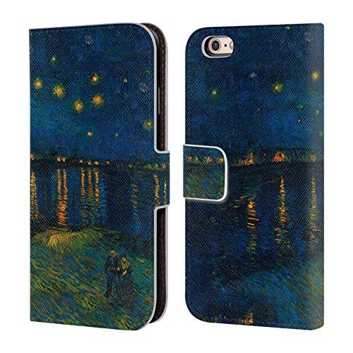 Offizielle Masters Collection Starlight Over The Rhone Bilder 2 Brieftasche Handyhülle aus Leder für Apple iPhone 6 / 6s