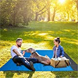 "Topspitgo Portable Sand Free Beach Blanket 82""x79"" Beach mat Waterproof and Sand Proof"