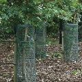 5er Pack Treeguard Strauch-/Baumschutzgitter Röhre 60cm, Ø 150-180mm, grün, zum Fege- und Verbissschutz von Tubex - Du und dein Garten