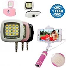 captcha le Mini LED Night Light with AUX Wire Selfie Stick Suitable with all Android or Iphone Devices (Colour May Vary, SelfieLight+RainbowSelfie)