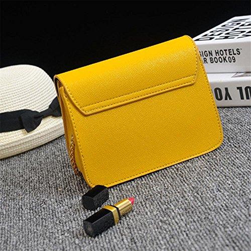 YANX Frau und Weise PU wenig Parteibeutelkettenhandtaschen-Dame-Schulter-BeutelTote (13 * 17 * 8 cm) Black