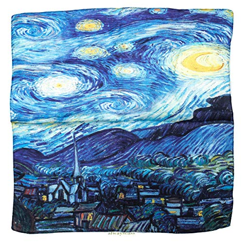 alwayscass Fazzoletto da collo Donna Starry Night Taglia unica