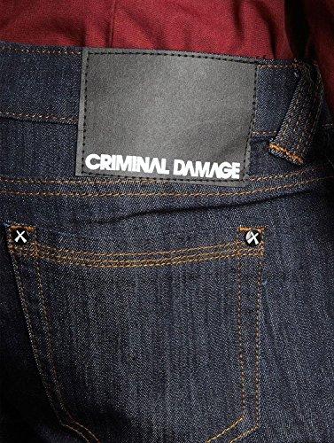 Criminal Damage Unisex Jeanshosen Blu (Indigo)