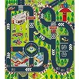 Alfombrilla de juegos para niños, ideal para jugar con coches y juguetes, alfombrilla educativa de tráfico en carretera, regalo ideal para niños viajes, interiores y exteriores.