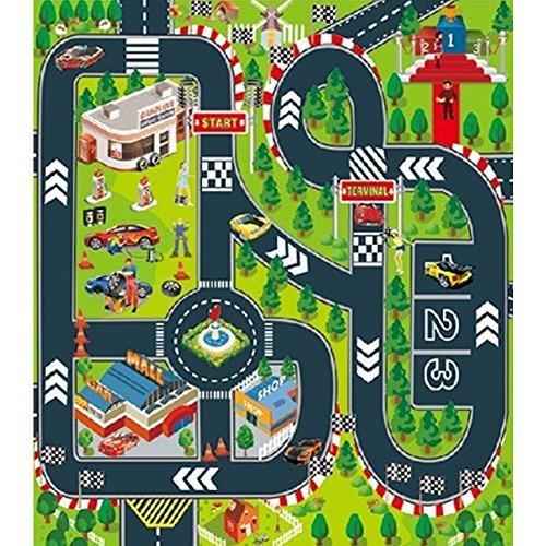 Alfombrilla de juegos para niños, ideal para jugar con coches y juguetes,...